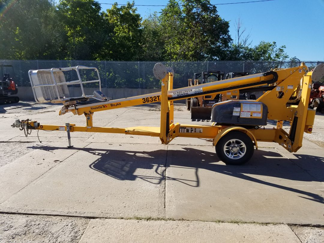 Haulotte biljax trailer lift for sale or rent sunflower equipment rental topeka lawrence blue springs missouri kansas