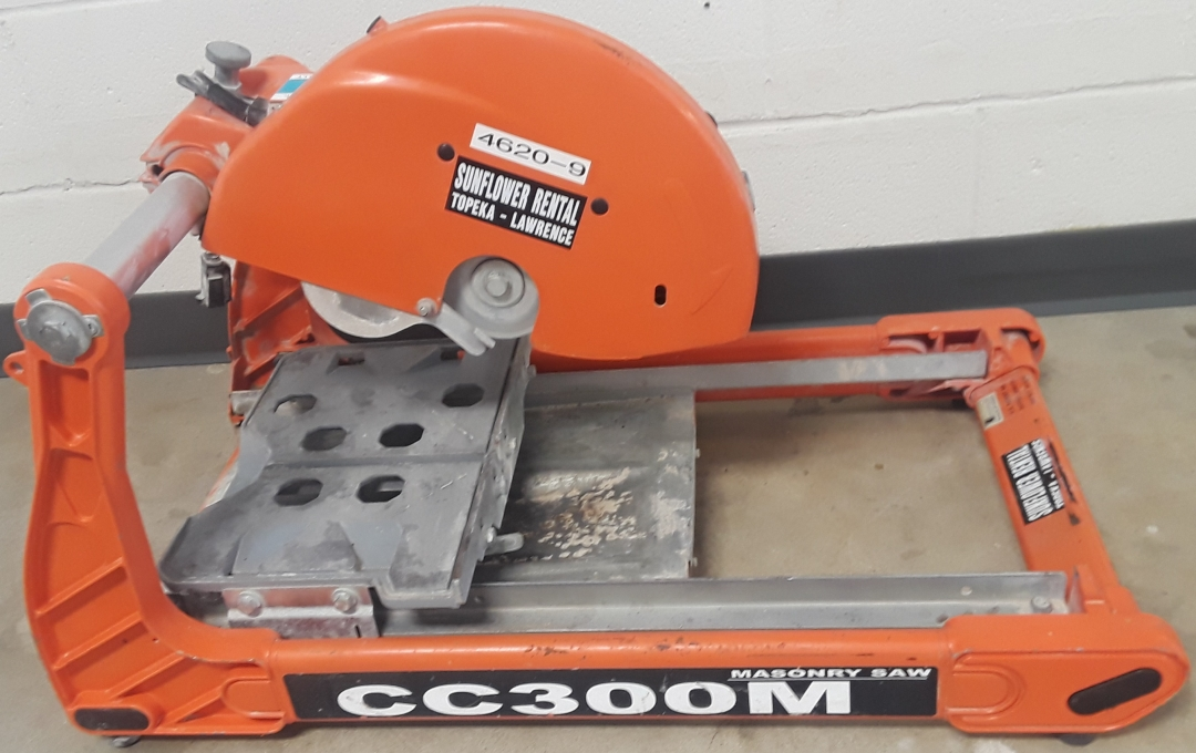 Diamond Products Masonry Saw CC300M for sale or rent sunflower equipment rentals topeka lawrence kansas blue springs missouri