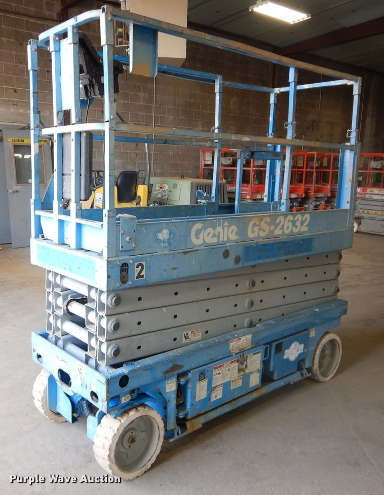 Genie GS-2632 Scissor Lift for sale or rent sunflower equipment rentals topeka lawrence kansas blue springs missouri