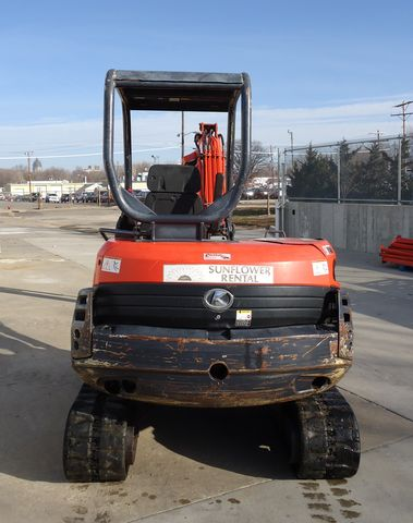Kubota mini excavator for rent or sale sunflower equipment rental topeka lawrence blue springs kansas