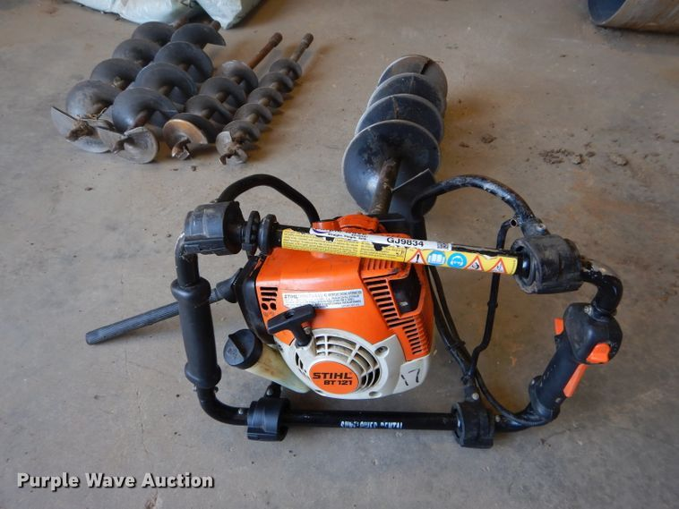 Stihl BT121 Auger for sale or rent sunflower equipment rentals topeka lawrence kansas blue springs missouri