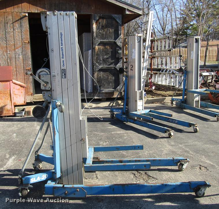 Genie SLA 20 vertical lifts for sale or rent sunflower equipment rentals topeka lawrence kansas blue springs missouri