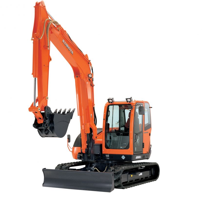Kubota KX080-4 track excavator for rent sunflower equipment rental topeka lawrence blue springs kansas