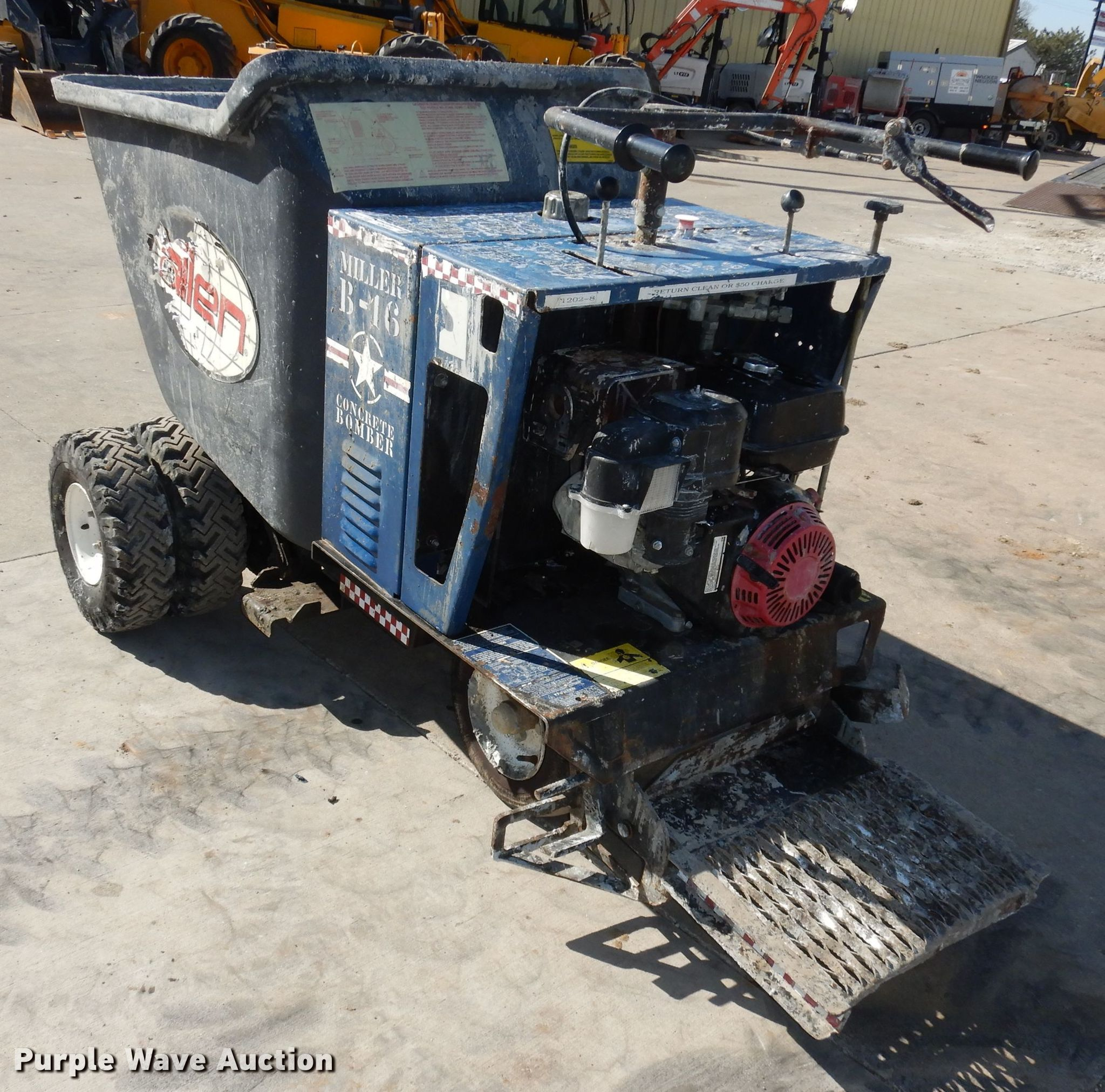 Miller B16 Concrete Bomber Power Buggy  for sale or rent sunflower equipment rentals topeka lawrence kansas blue springs missouri