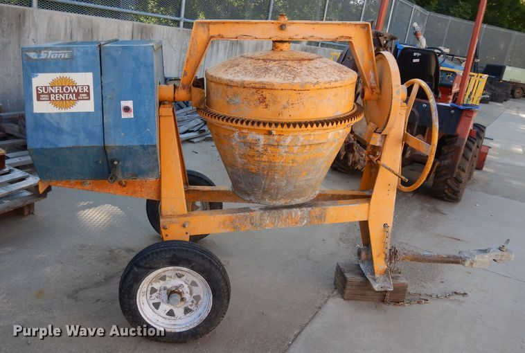 Stone 65CM concrete mixer for sale or rent sunflower equipment rentals topeka lawrence kansas blue springs missouri